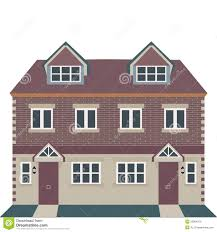 georgian house vector illustration stock vector image 53884870