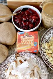 crock pot baked potatoes with thanksgiving leftovers the country