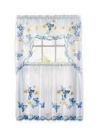 Butterfly Kitchen Curtains by Butterfly Curtain Set Carolwrightgifts Com