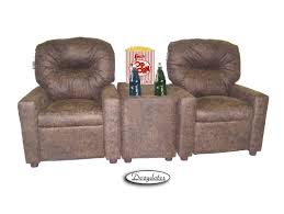Leather Recliner Chair With Cup Holder Dozy Dotes Theater Kids Recliner With Cup Holder U0026 Reviews Wayfair