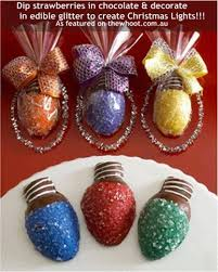 chocolate covered strawberries dipped in glitter to create