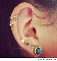 awesome cartilage earrings 500 x 536 awesome ear piercings likealady 1pages ears