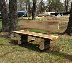 country log slab bench log wood projects my wood working