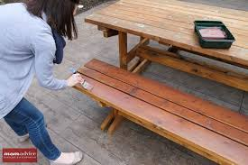 how to stain a picnic table momadvice