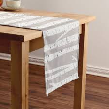 Birch Home Decor Birch Table Runners Zazzle