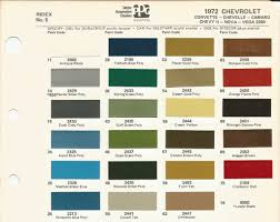 1972 chevrolet camaro antique white code 11 car paint color kit