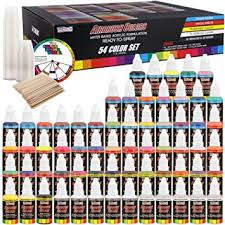 u s art supply 54 color ultimate airbrush acrylic paint set with