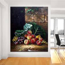 wall fruit basket fruit basket original still painting canvas prints