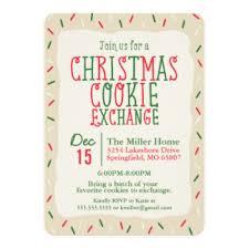 cookie exchange invitations u0026 announcements zazzle