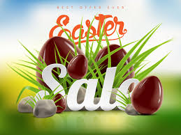 easter eggs sale easter sale advertising background with chocolate eggs vector 03