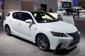 2014 lexus hybrid official 2014 lexus ct shows on each side of the pacific