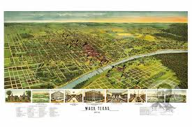 map waco waco tx historical map 1892 ted s vintage
