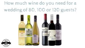 what do i need for a wedding how much wine do you need for a wedding of 80 100 or 120 guests