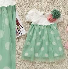 baby girls polka dots dress mint green summer dress 12 months