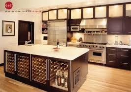 kitchen island with wine storage wine fridge placement idea kitchen wine storage