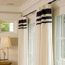 Cream And White Curtains Stylish White Curtains With Navy Trim And Navy And Cream Trellis