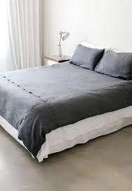 grey french linen duvet cover u2013 double trousseau linen bedding