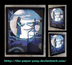 nightmare before christmas shadowbox by the paper pony on