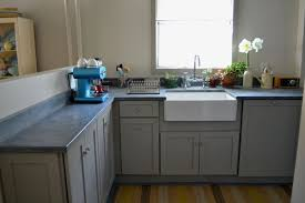 Grey Shaker Kitchen Cabinets by Grey Concrete With Custom Birch Cabinets Work Shop Denver