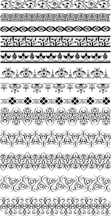 floral ornate borders vector vector graphics