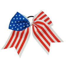 Cheerleader Flags Sequin Cheer Bows For Girls Cheerleading Party Supplies
