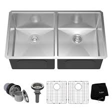 double sinks kitchen stainless steel kitchen sinks kraususa com
