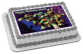 tmnt cake topper mutant turtles ediblecakeorcupcake topper edible