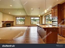 Empty Kitchen Open Floor Plan Empty Living Room Stock Photo 469382786 Shutterstock