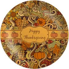 thanksgiving melamine plate personalized youcustomizeit