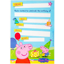 peppa pig birthday peppa pig birthday invitation 8 pack toys r us australia join