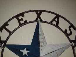 Western Home Decorations Texas Barn Star License Plate Metal Wall Western Home Decor New