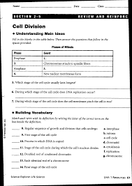 Cell Membrane Worksheet Cell Division And Mitosis Worksheet Answers U0026 Cell Division