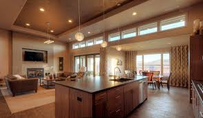 open plan kitchen living dining room ideas trendy dining room