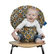 chaise nomade baby to chaise nomade motifs ronds oranges jaunes et beiges zest sebio