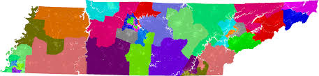 Tennessee State Map by Tennessee Senate Redistricting