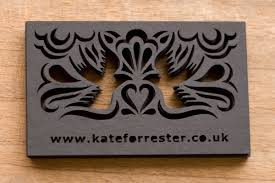 laser cut business cards unique laser cut business cards kate forrester cardrabbit