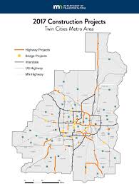 Twin Cities Map Orange Cone Season Mndot Unveils 1b In 2017 Road Projects
