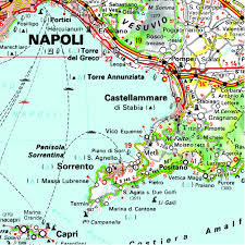 Positano Italy Map Italy South Regional Map 564 Michelin Regional Maps Amazon Co