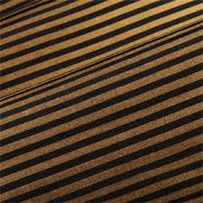 Black And Gold Curtain Fabric Black And Gold Horizontal Stripe Faux Silk Drapery Fabric 52584
