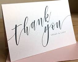 personalized thank you cards thank you notes etsy