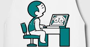tablier un garçon se masturber devant ordinateur spreadshirt