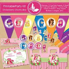 printable birthday invitations strawberry shortcake shery k designs free printable party kit strawberry shortcake