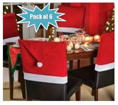 Christmas Chair Back Covers New Mega Pack Of 6 Soft Fabric Santa Hat Christmas Chair Back Slip