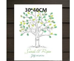 tree signing for wedding 2018 wholesale new 30 x40cm guest signing signature wedding tree