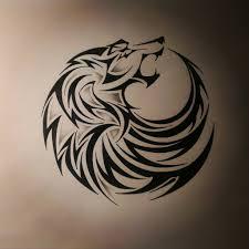tribal wolf tattoodirtfinger deviantart viking for stylish wolf