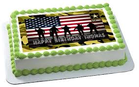 us army edible birthday cake or cupcake topper u2013 edible prints on