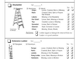 45 step ladder inspection ladder inspection checklist pictures to