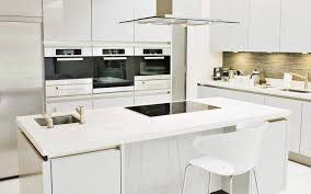 Buy Modern Kitchen Cabinets Countertops Backsplash Black Electric Cook Top White Kitchen
