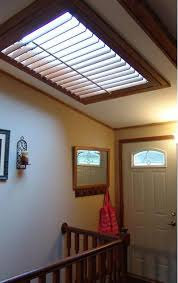 Budget Blinds Chicago Shutter Skylight Matched The Wood Trim Complimenting This Interior