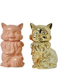 Unique Gifts Home Decor Cat Shaped Ceramic Cookie Jar Rice Danish Homeware Rice Home